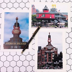 Party Supplies - Baltimore Photo Note Card. All Occasions Set of 3